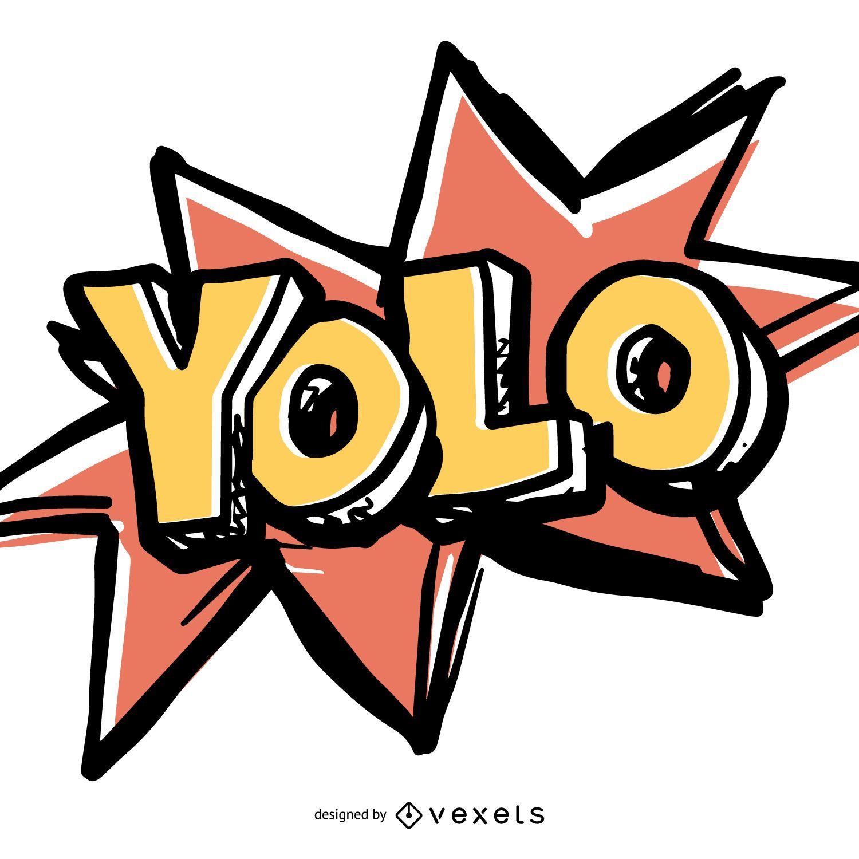 Funny YOLO sign - Vector download