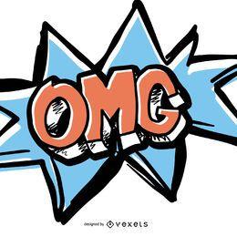 Efeito de som em quadrinhos OMG