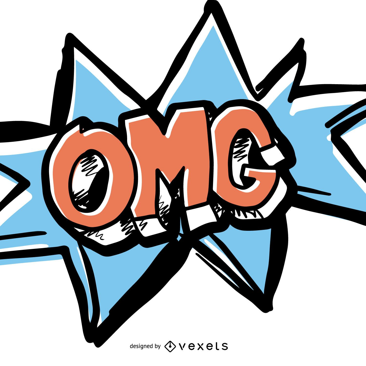 Omg Comic Sound Effect Vector Download
