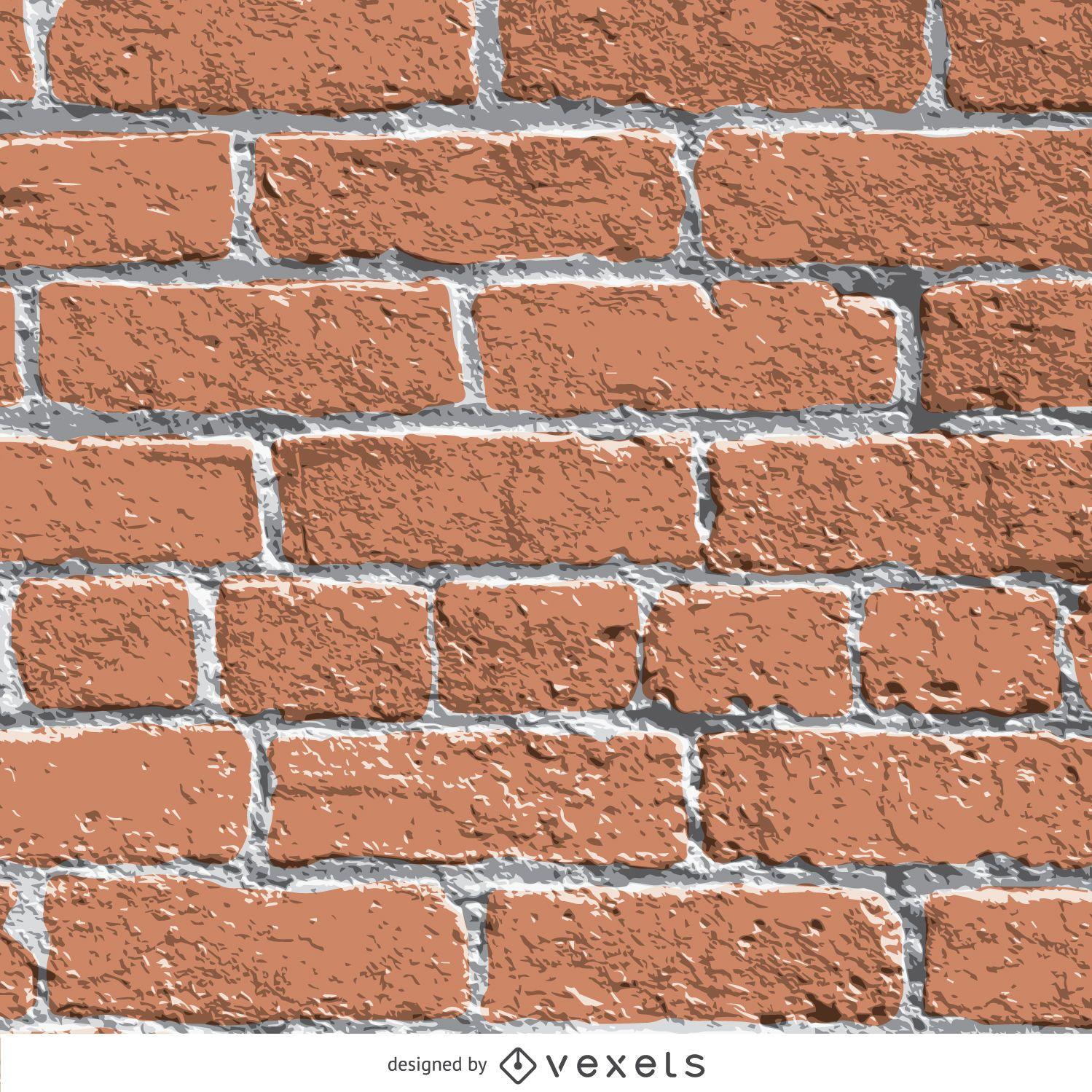 Textura de la pared de ladrillo realista descargar vector - Ladrillos para pared ...
