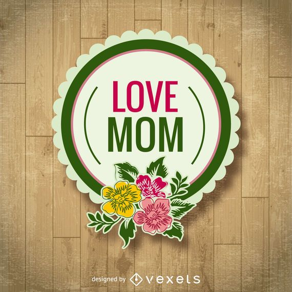 Mother's Day floral badge