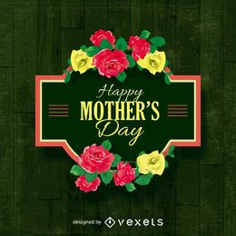 Feliz dia das mães sinal com flores