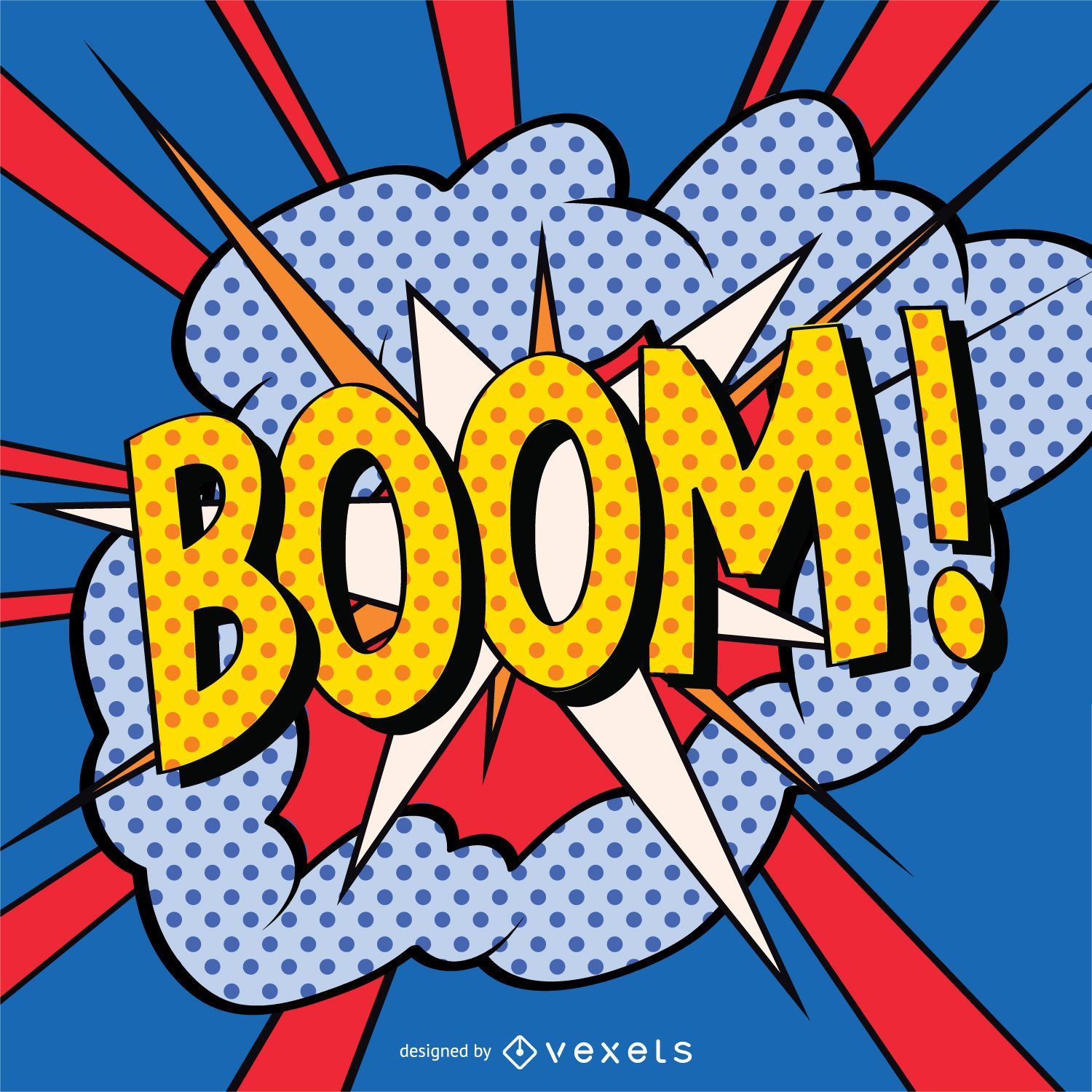 Boom Sign In Comic Style Vector Download