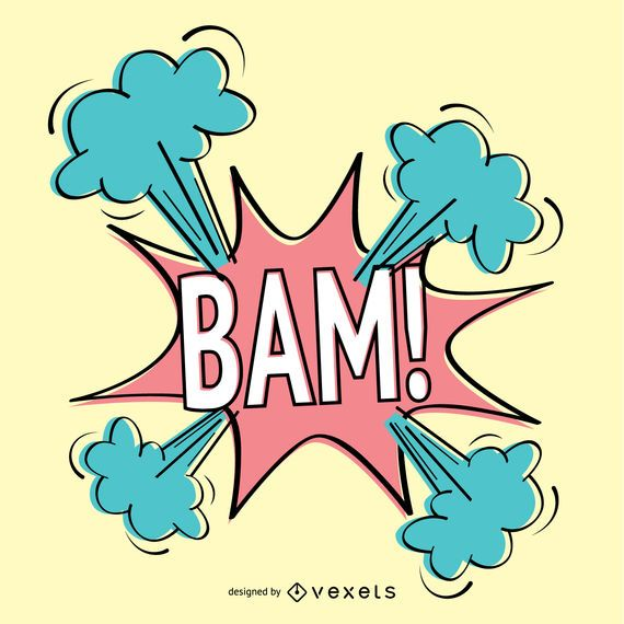 Vintage BAM! sign