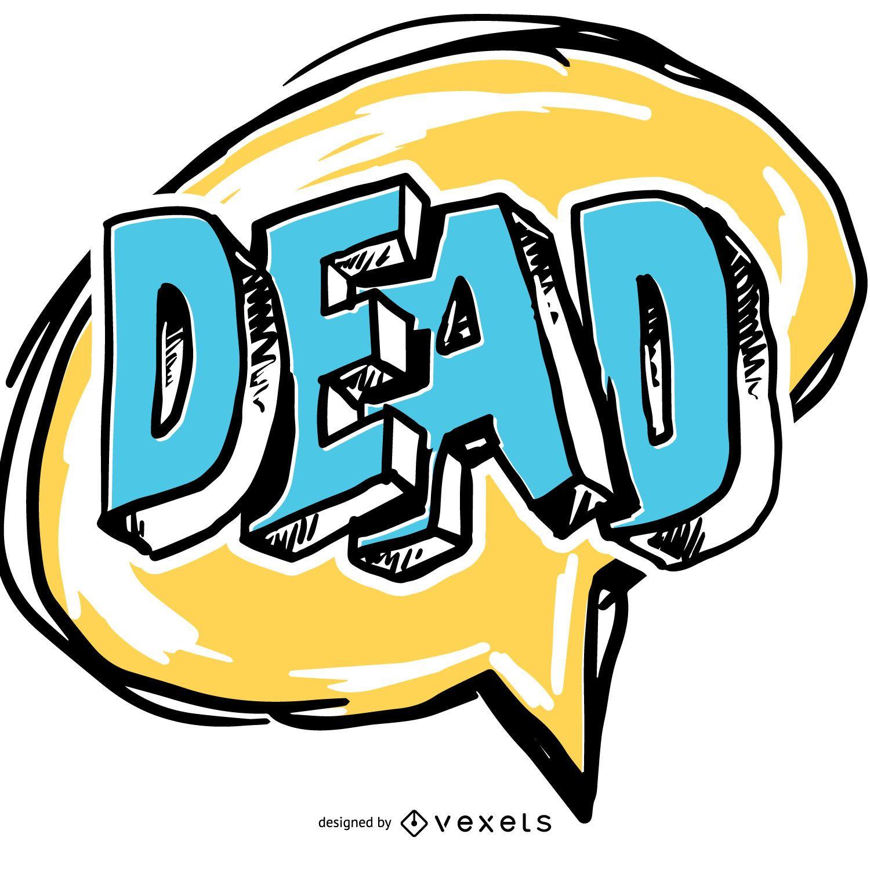 Bocadillo de diálogo cómico muerto