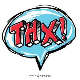 Gracias bocadillo de diálogo THX
