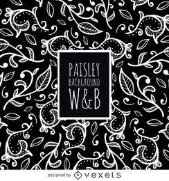 patrón de Paisley en blanco y negro