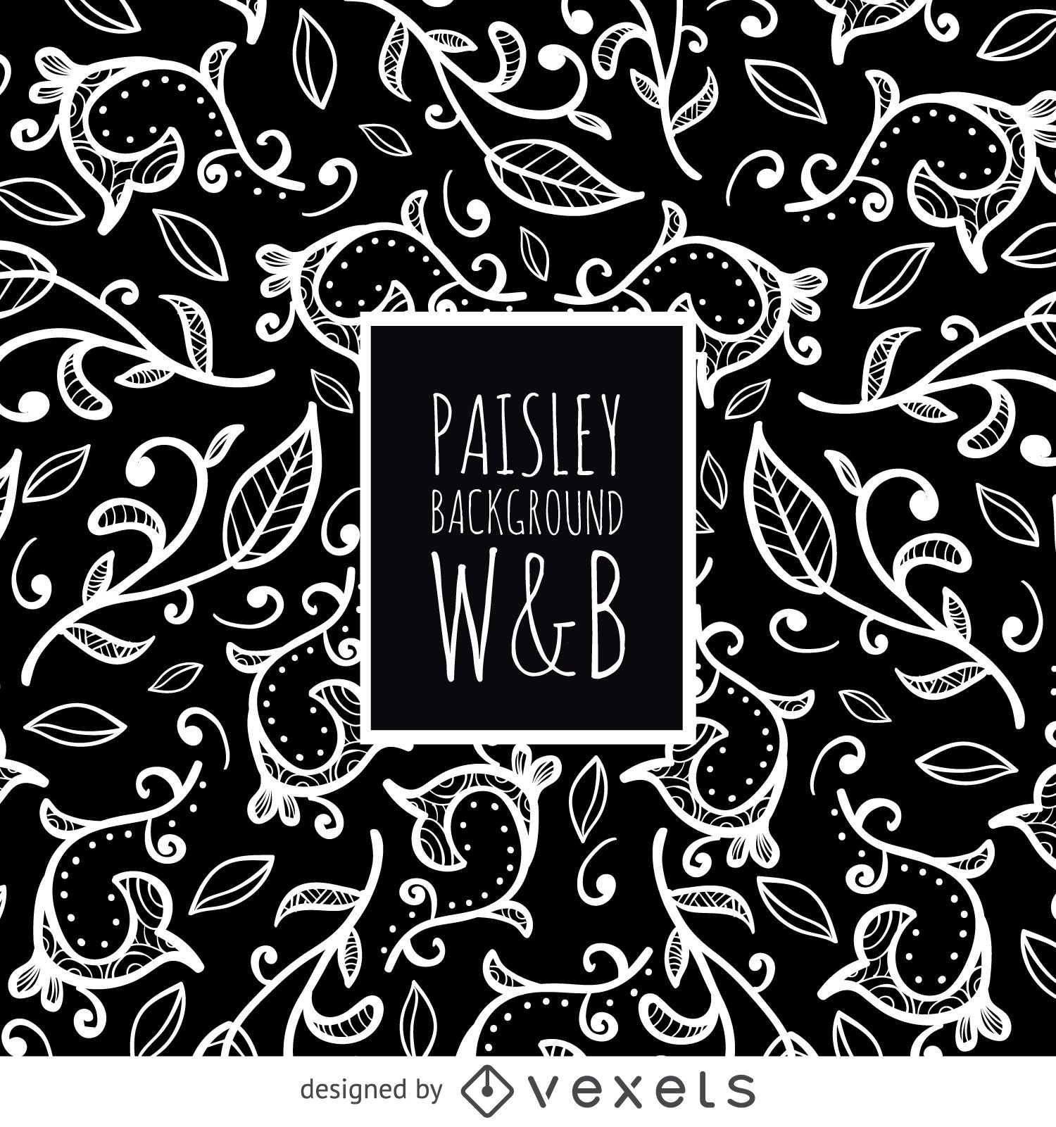 Seamless Paisley Pattern In Black And White Vector Download