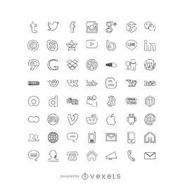 Social Media Icons Sammlung