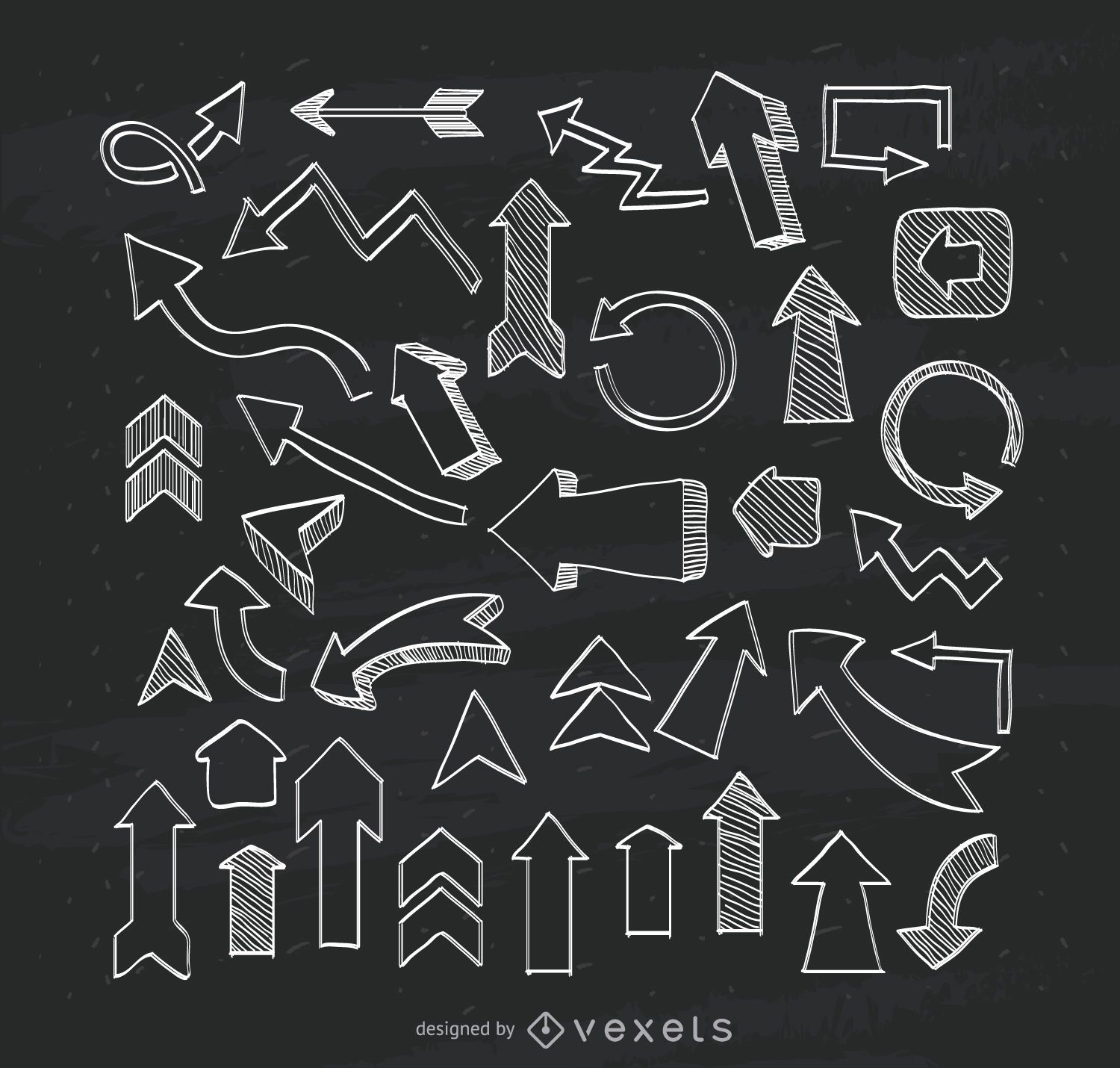 Illustrated arrows collection