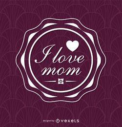 Insígnia do dia das mães roxa
