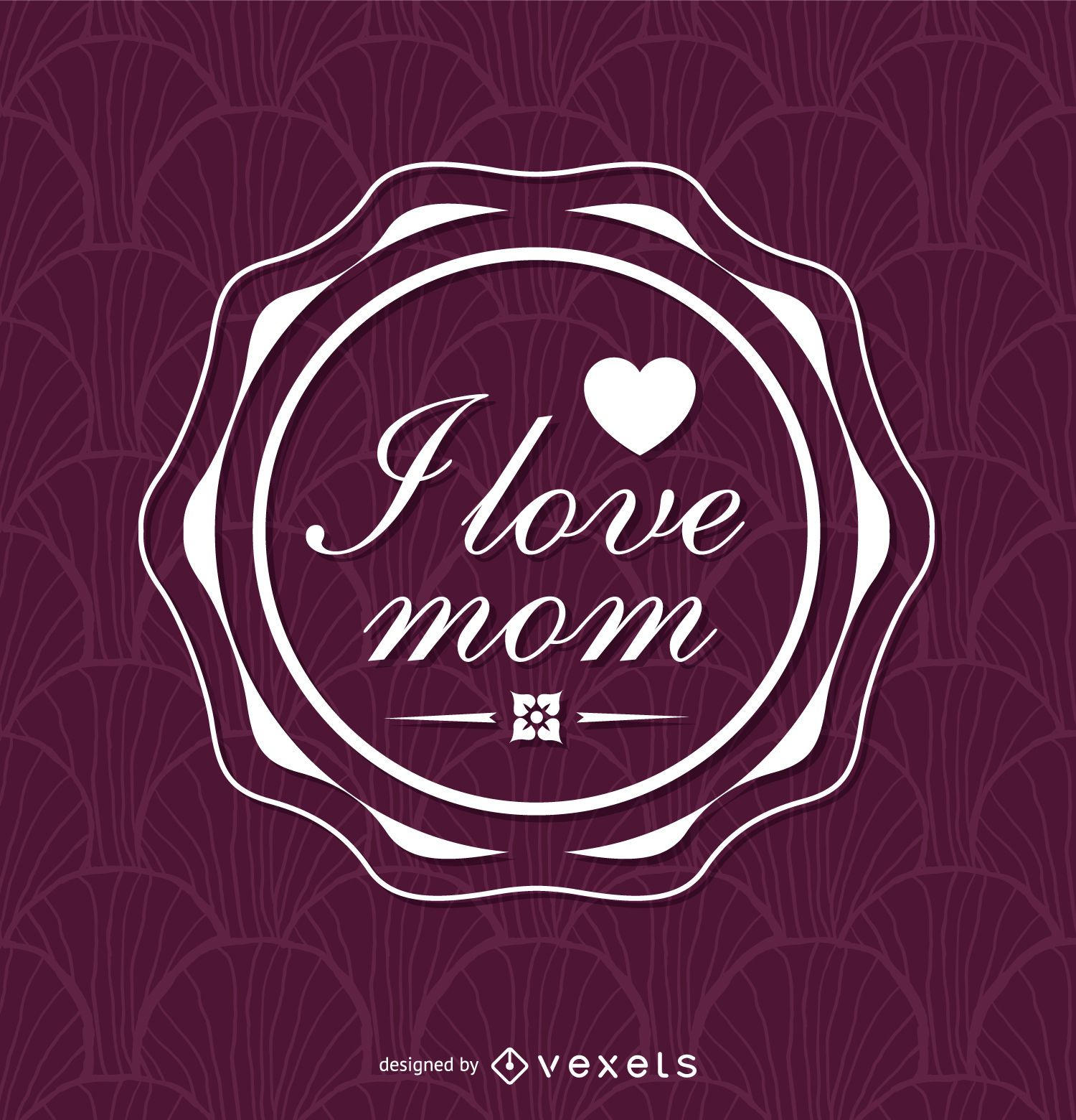 Purple Mother's Day insignia