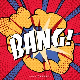 Muestra colorida de BANG vintage