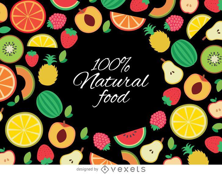 Drawn organic fruit background