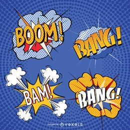 Comic sound effect set