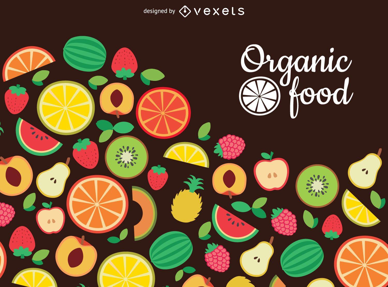 Pano de fundo plano de alimentos orgânicos
