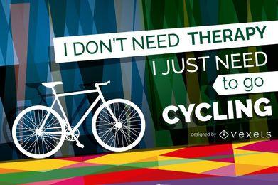 Cartel de bicicleta con mensaje.