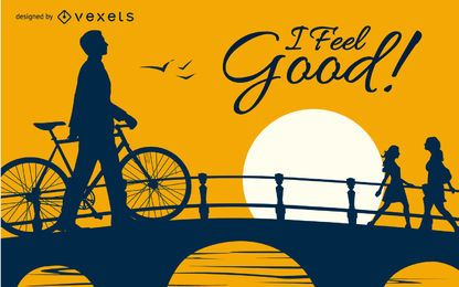 I feel good bicycle design