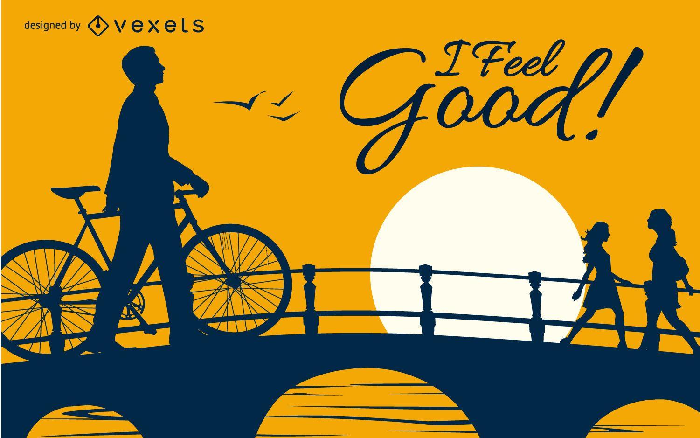 I feel good bicycle design