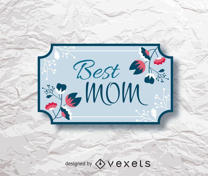 Tag floral do presente do dia das mães
