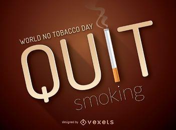 Pare de fumar cartaz com cigarro