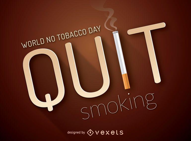 Dejar de fumar cartel con cigarrillo
