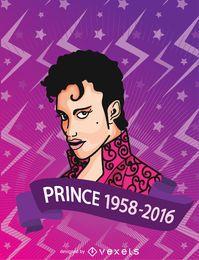 Cartel conmemorativo del príncipe RIP