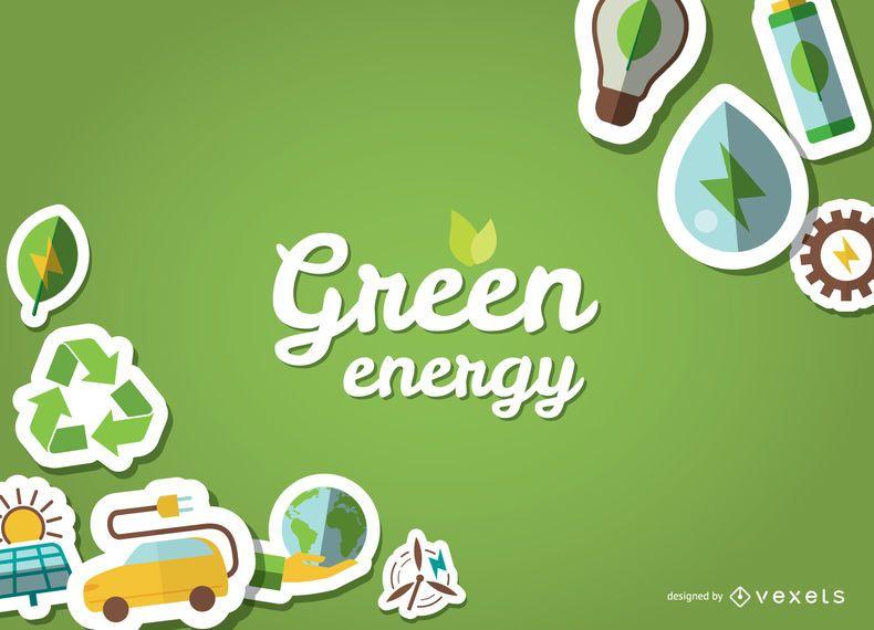 Cartel ecológico con adhesivos.
