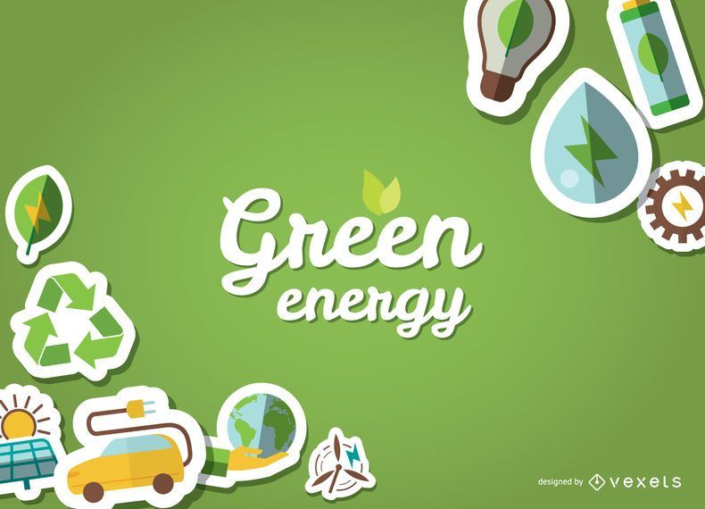 Eco friendly poster with stickers