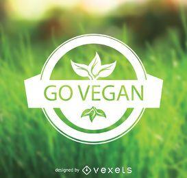 Go vegan emblem