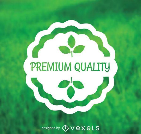 Pegatina de calidad premium