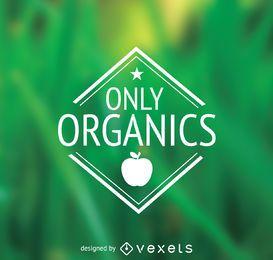 Solo emblema de alimentos orgánicos