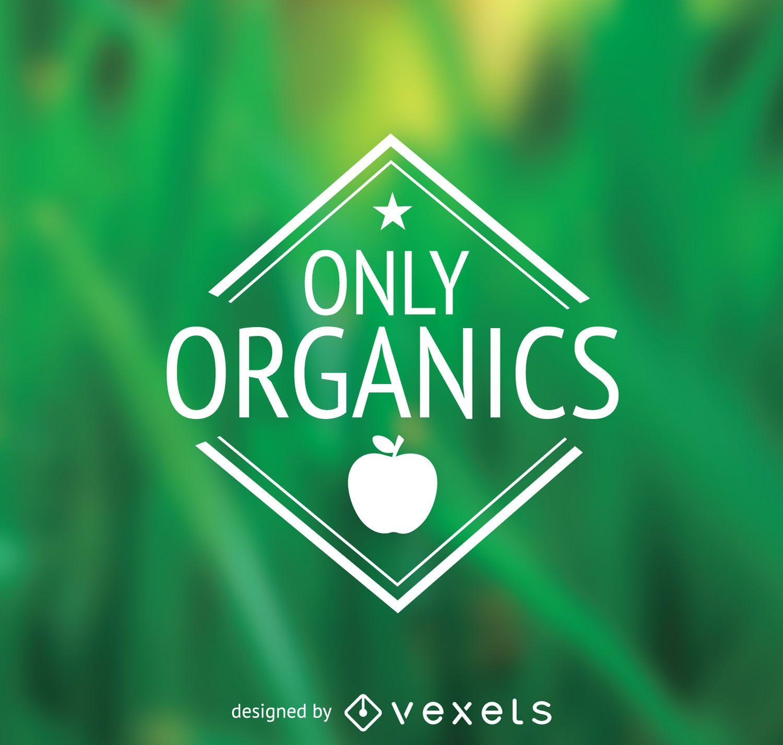 Apenas o emblema de alimentos orgânicos