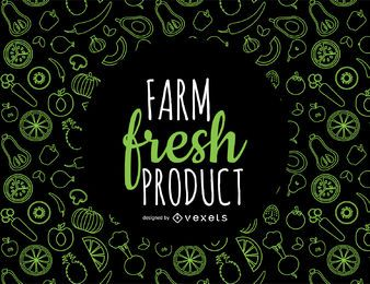 Fresh produce pattern