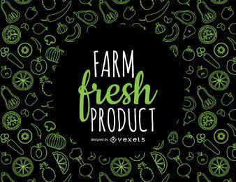 Patrón de productos frescos