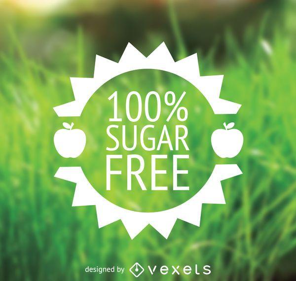 Sugar free food label in flat design