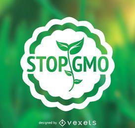 Flat design stop GMO sign