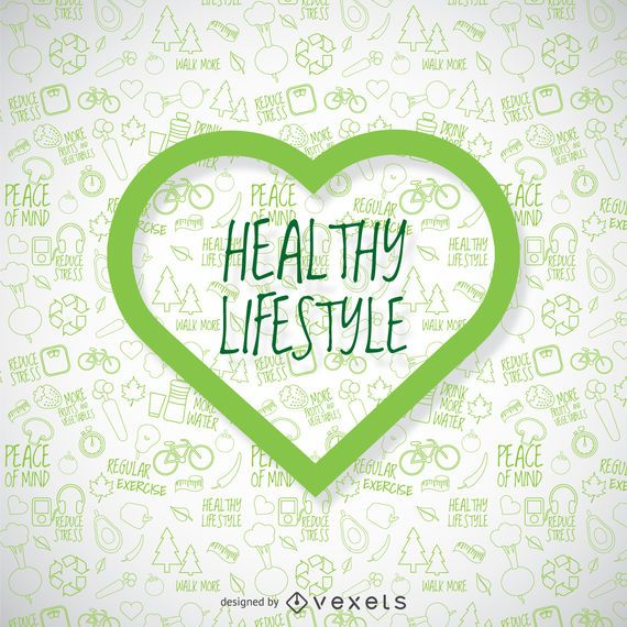 Healthy Lifestyle Wallpaper With Green Heart