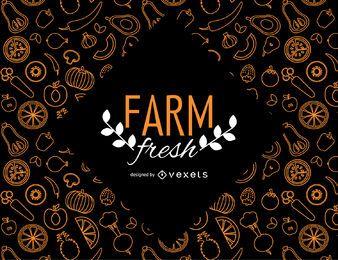 Farm frische Tapete mit Gemüse