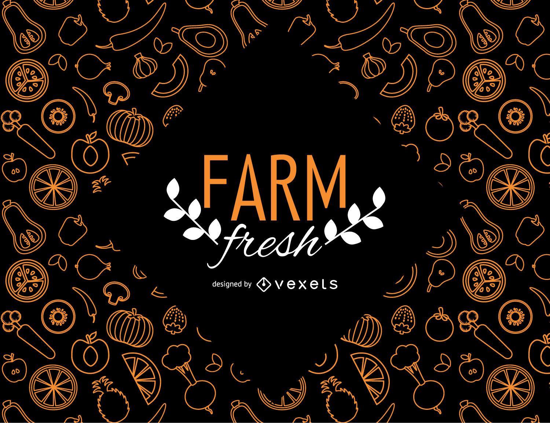 Farm fresh wallpaper with vegetables