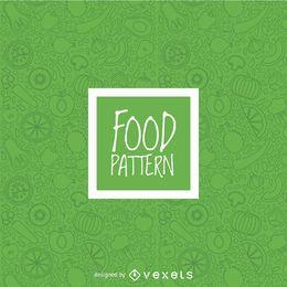Verduras verdes de patrones sin fisuras