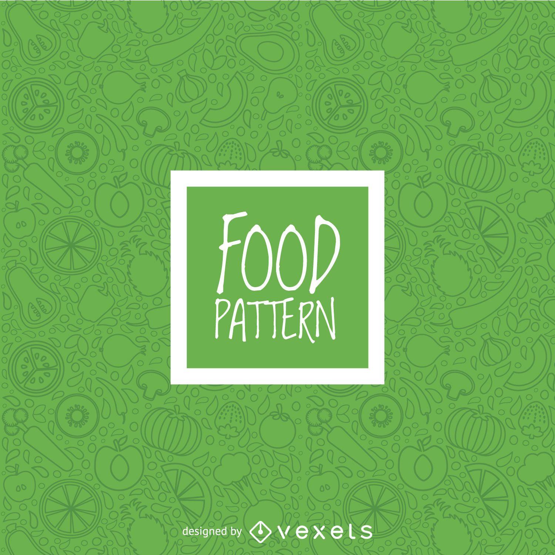 Patrón sin fisuras de verduras verdes
