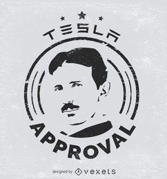 Tesla-Zulassungsaufkleber