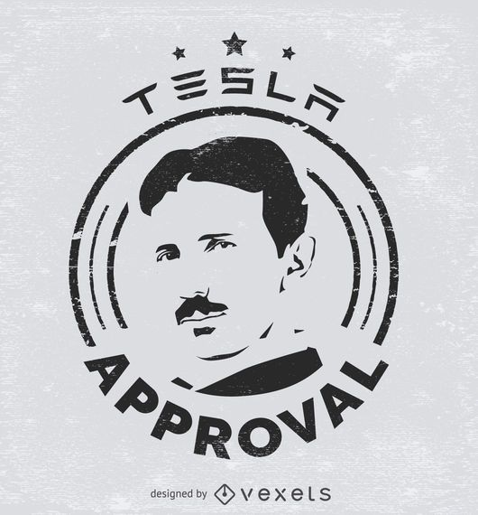 Pegatina de aprobación Tesla