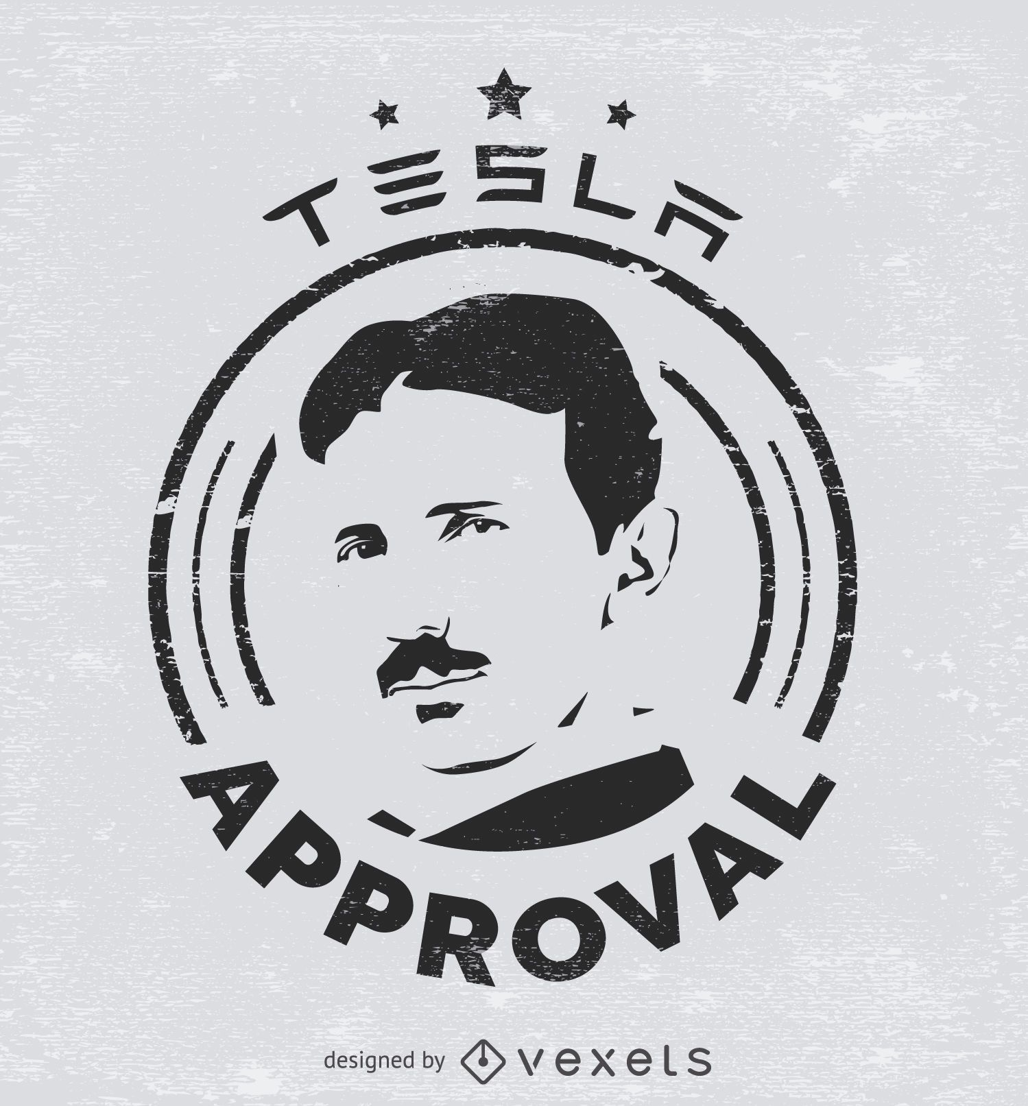 Tesla approval sticker