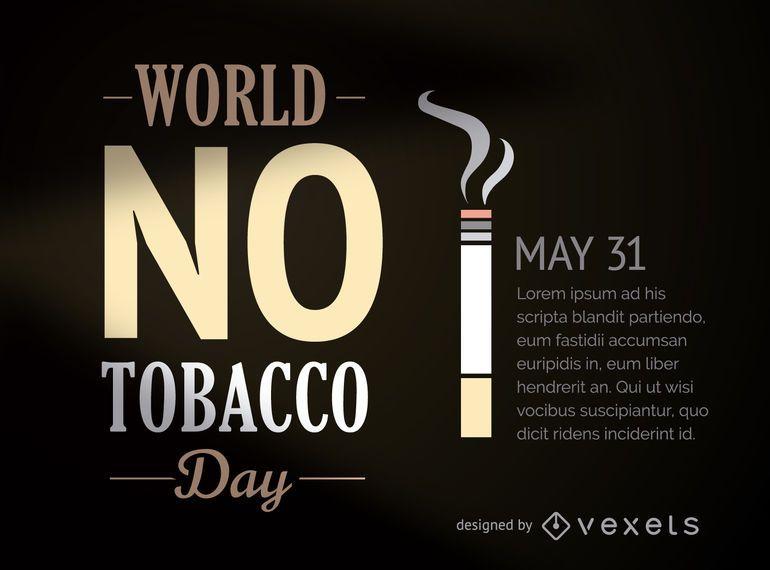 Welt kein Tabak-Tag-Poster