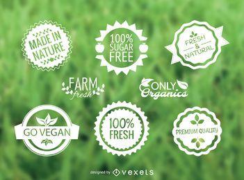 Alimentos conjunto de etiquetas vector