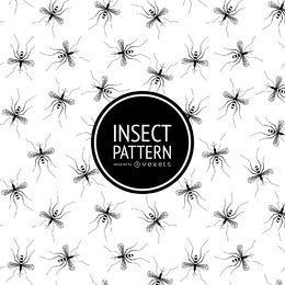 patrón de insectos en blanco y negro