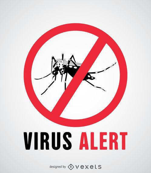 Sinal de alerta de vírus Aedes Aegypti
