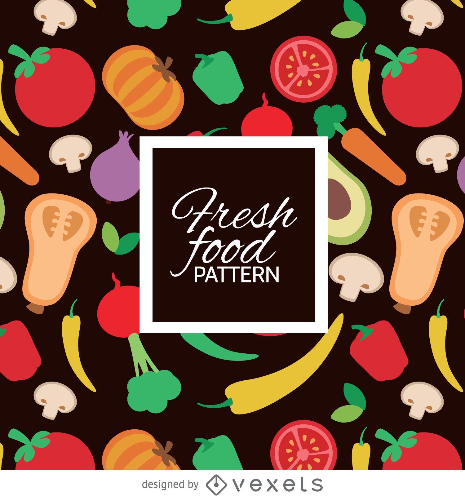 Colorful fresh vegetables pattern